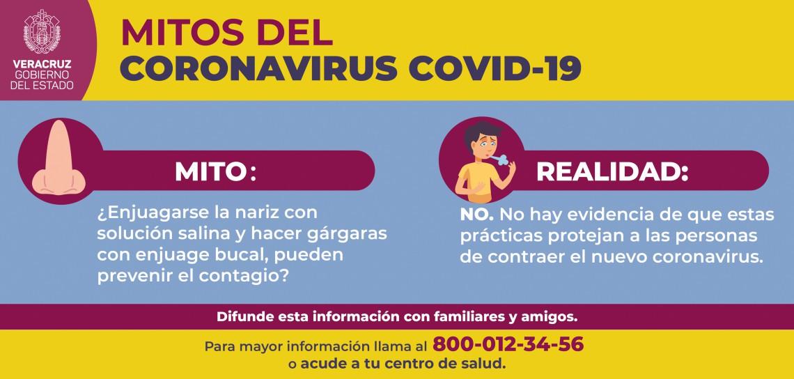 MITOS DEL CORONAVIRUS COVID-19