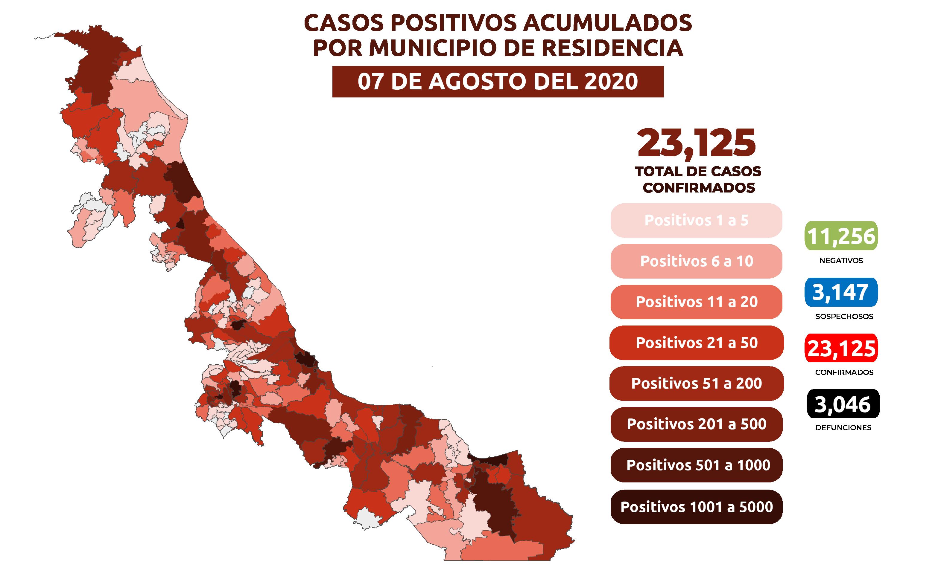 Contagiados por coronavirus en Veracruz ya están presentes en más municipios de la entidad